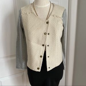 ASYMMETRICAL FRONT TWO TONED JACKET BY MONTEAU